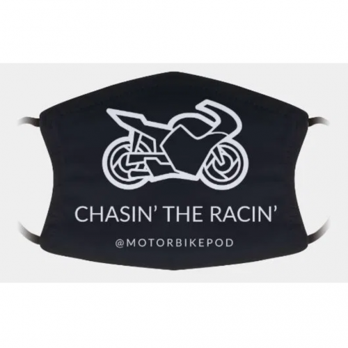 Chasin the Racin Podcast Face Mask Merchandise