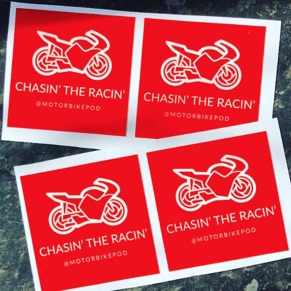 Chasin the Racin Stickers
