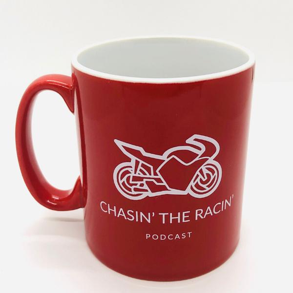 Chasin the Racin Podcast Mugs Merchandise